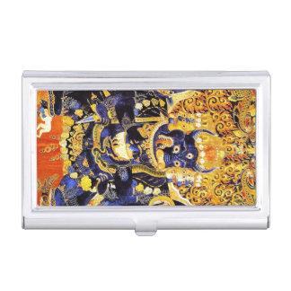Cool oriental tibetan thangka god tattoo art business card cases
