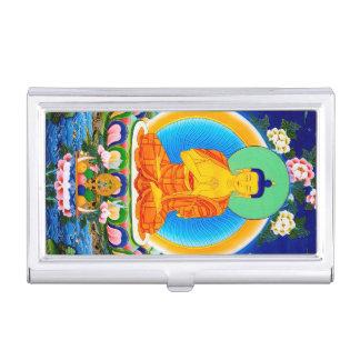 Cool oriental tibetan thangka god tattoo art business card case