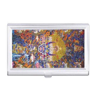 Cool oriental tibetan thangka god tattoo art business card holders