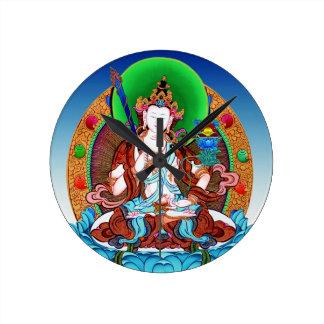 Cool oriental tibetan thangka god tattoo art round clock