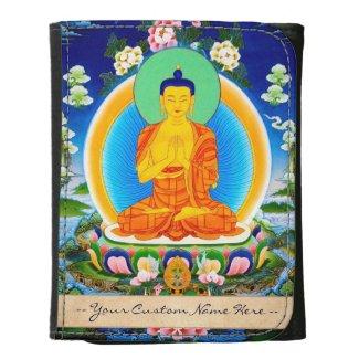 Cool oriental tibetan thangka god tattoo art women's wallet