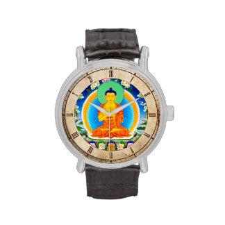 Cool oriental tibetan thangka god tattoo art wrist watch