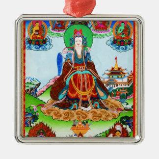 Cool oriental tibetan thangka Golden Mother Metal Ornament