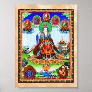 Cool oriental tibetan thangka Golden Mother Print