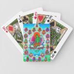Cool oriental tibetan thangka Green Tara  tattoo Bicycle Playing Cards