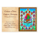 Cool oriental tibetan thangka Green Tara  tattoo Business Card