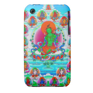 Cool oriental tibetan thangka Green Tara tattoo iPhone 3 Cover