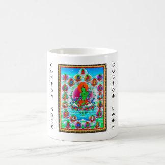 Cool oriental tibetan thangka Green Tara  tattoo Coffee Mug