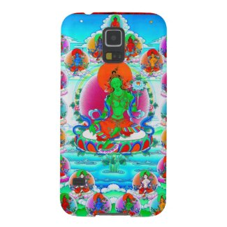 Cool oriental tibetan thangka Green Tara tattoo Galaxy S5 Cases