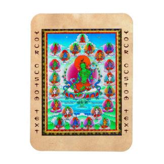 Cool oriental tibetan thangka Green Tara  tattoo Magnet