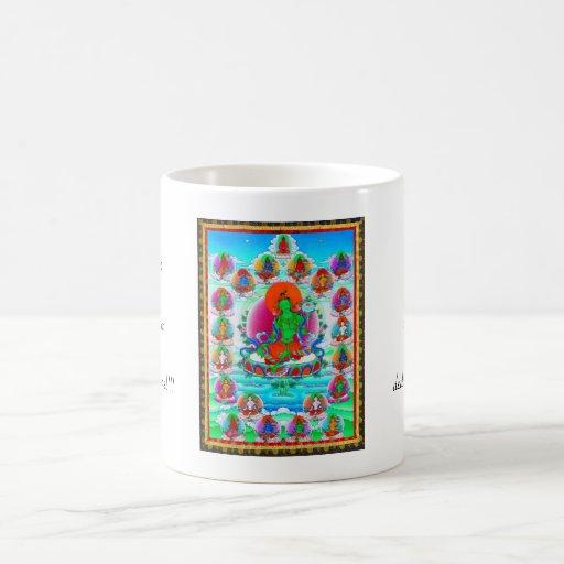 Cool oriental tibetan thangka Green Tara  tattoo Mug