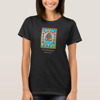 Cool oriental tibetan thangka Green Tara tattoo T-Shirt