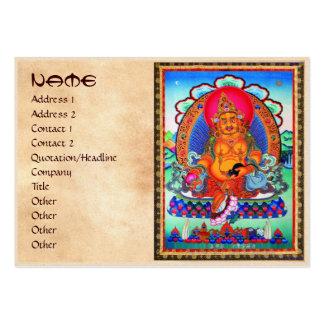 Cool oriental tibetan thangka Jambhala tattoo art Large Business Card