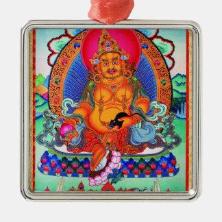 Cool oriental tibetan thangka Jambhala tattoo art Metal Ornament