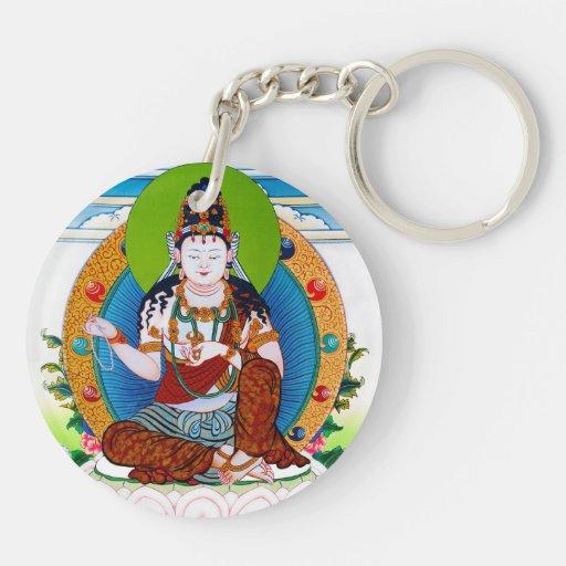 Cool oriental tibetan thangka Mahacakravajra Double-Sided Round Acrylic Keychain