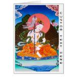 Cool oriental tibetan thangka mandarava tattoo art card