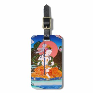 Cool oriental tibetan thangka mandarava tattoo art tags for luggage