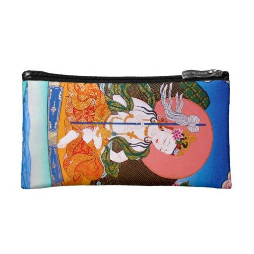 Cool oriental tibetan thangka mandarava tattoo art makeup bag