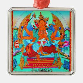Cool oriental tibetan thangka Marici tattoo Metal Ornament