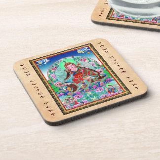 Cool oriental tibetan thangka Padmasambhava Beverage Coaster