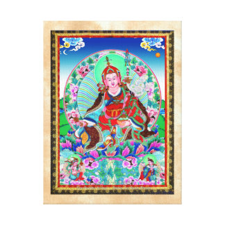 Cool oriental tibetan thangka Padmasambhava Canvas Print