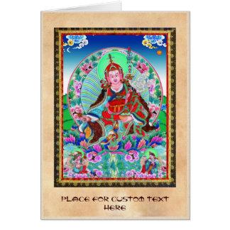 Cool oriental tibetan thangka Padmasambhava Card