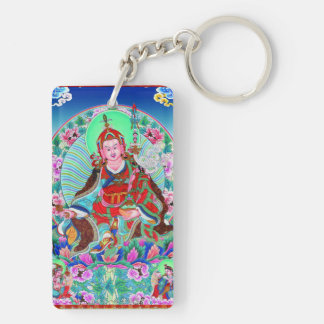 Cool oriental tibetan thangka Padmasambhava Keychain