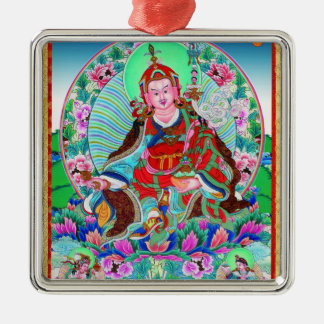 Cool oriental tibetan thangka Padmasambhava Metal Ornament