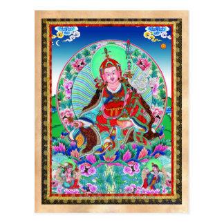 Cool oriental tibetan thangka Padmasambhava Postcard