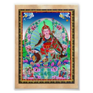 Cool oriental tibetan thangka Padmasambhava Poster