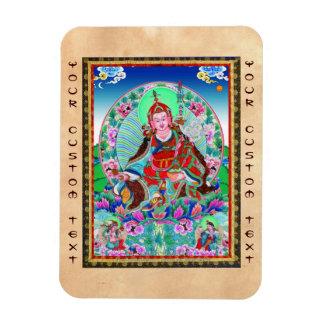 Cool oriental tibetan thangka Padmasambhava Rectangular Photo Magnet