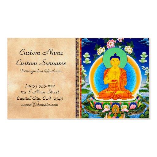 Cool oriental tibetan thangka Prabhutaratna Buddha Business Cards