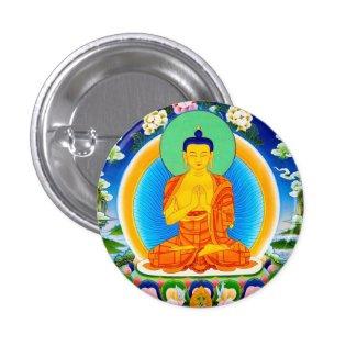 Cool oriental tibetan thangka Prabhutaratna Buddha Button