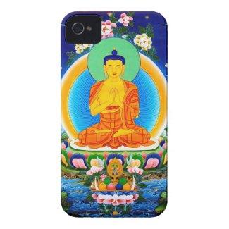 Cool oriental tibetan thangka Prabhutaratna Buddha iPhone 4 Covers