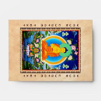 Cool oriental tibetan thangka Prabhutaratna Buddha Envelopes