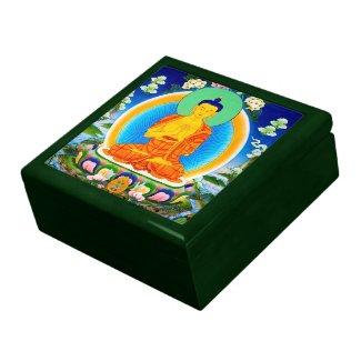 Cool oriental tibetan thangka Prabhutaratna Buddha Jewelry Boxes