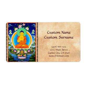 Cool oriental tibetan thangka Prabhutaratna Buddha Labels