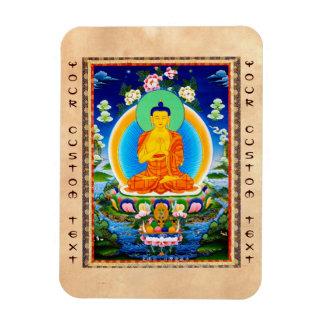 Cool oriental tibetan thangka Prabhutaratna Buddha Magnet