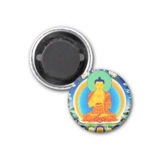 Cool oriental tibetan thangka Prabhutaratna Buddha Fridge Magnet