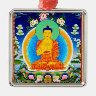 Cool oriental tibetan thangka Prabhutaratna Buddha Metal Ornament
