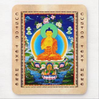 Cool oriental tibetan thangka Prabhutaratna Buddha Mousepads