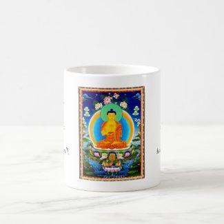 Cool oriental tibetan thangka Prabhutaratna Buddha Coffee Mugs