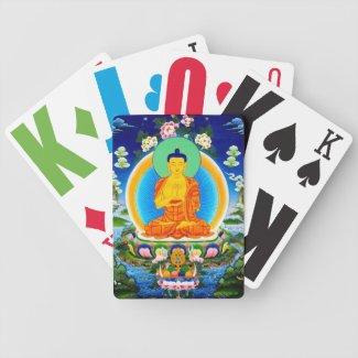 Cool oriental tibetan thangka Prabhutaratna Buddha Playing Cards