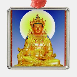 Cool oriental tibetan thangka Prithivi Earth God Metal Ornament
