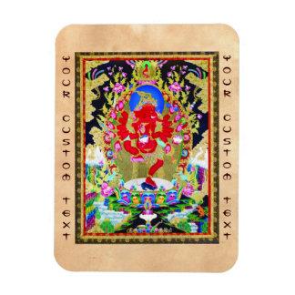 Cool oriental tibetan thangka Red Jambhala tattoo Magnet