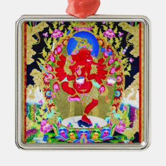 Cool oriental tibetan thangka Red Jambhala tattoo Metal Ornament