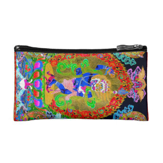 Cool oriental tibetan thangka Simhavaktra Dakini Cosmetic Bag