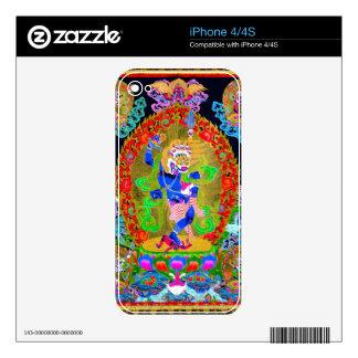 Cool oriental tibetan thangka Simhavaktra Dakini iPhone 4 Decal