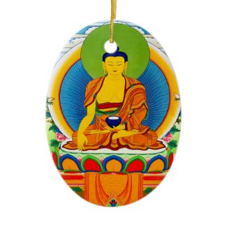Cool oriental tibetan thangka tattoo Aksobhya Christmas Ornament