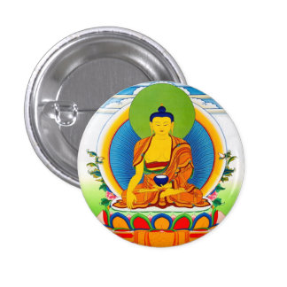Cool oriental tibetan thangka tattoo Aksobhya Pinback Button